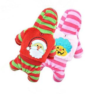 4 Style Christmas Pet Dog Puppy Winter Warm Jumpsuit Pants Clothes Coat Cute New