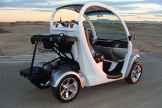 Silver on Black Custom 2 Seat Gem Car 72V Electric Golf Cart Awesome Car Fast