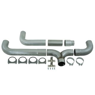 "MBRP 07 5 09 Dodge RAM Cummins Diesel 5"" Filter Back Dual Stack Exhaust Kit Al"