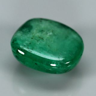 2 41ct Cushion Cabochon Natural Sea Green Emerald Pakistan