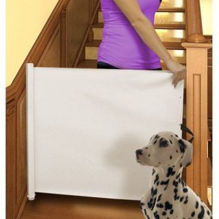 Pull Out Rectractable Pet Baby Child Gate Barrier Door Way Retracting Hallway