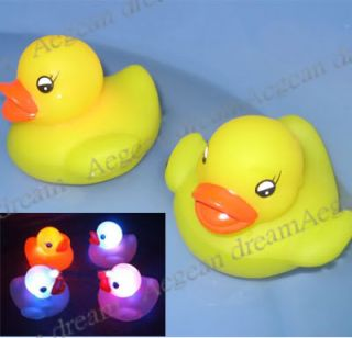 Baby Bath Toy Color Changing Yellow Duck LED Lamp Light
