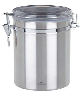Food Storage Container Bowl Stainless Steel w Lock 52 oz Airtight