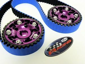 94 01 Acura Integra GSR Type R Gates Racing Timing Belt 2 Cam Gears Kit Purple