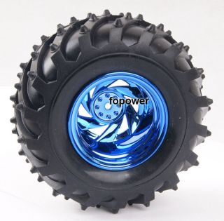 RC Rubber Sponge Tires Tyre Wheel Rim 1 10 Monster Bigfoot Car Truck 6008 3002
