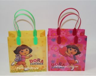 12 PC Dora The Explorer Goodie Bags Party Favor Bags Gift Bags Birthday Bags