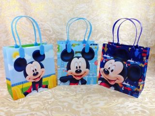 Disney Mickey Minnie Mouse 12pc Goodie Bags Party Favor Bags Gift Bags