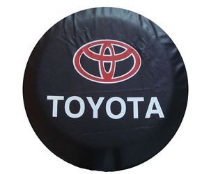 "Toyota RAV4 Land Cruiser Prado Spare Tire Cover 16"" Wheel Tyre Cover Black TA10"