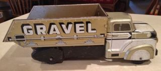 Vintage 1950's Marx Sand and Gravel Dump Truck Pressed Steel