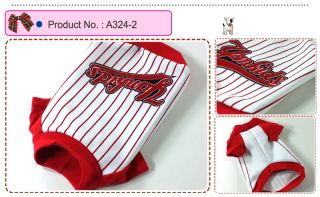 Dog Cat Clothes Shirts Printing Baseball Uniform A324