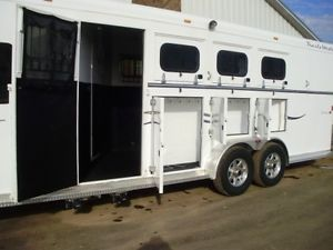 2008 Trails West 4 Horse Trailer Slant Load 8'x13' LQ Living Quarter