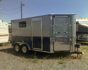 Enclosed Cargo Trailer with Horse Buggy