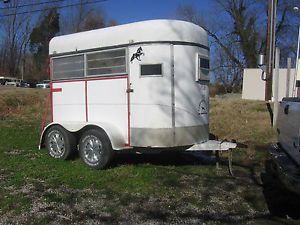 Good Used Two Horse Tag Along Horse Trailer No Title