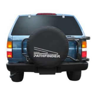 Sparecover® Brawny Series Nissan Pathfinder Tire Cover Heavy Black Denim Vinyl