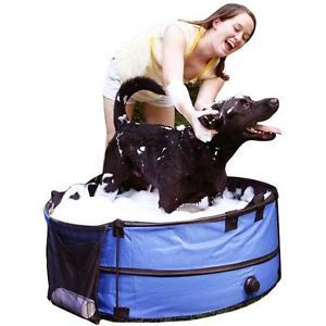 Pet Store Portable Collapsible Pet Dog Bath Bathing Grooming Tub with Carry Case