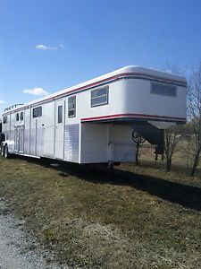 6 Horse Trailer with Living Quarters Mobile Workshop ATV Hauler