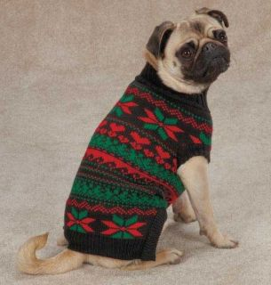 Zack Zoey Classic Holiday Dog Knit Sweater XXS XL Sweaters Top Christmas Xmas