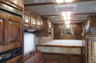 4star Outlaw Conversion 3 Horse SL Aluminum Living Quarters Trailer Onan Nice