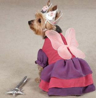 Zack Zoey Fairy Princess Dog Halloween Costume XS L