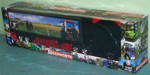 Kenworth T700 Rig Tractor Trailer 1 32 Scale New Ray 11993 Farm Horse Scene