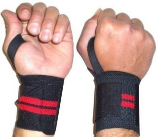 Wrist Wraps with Thumbloop Straps Bandages Weightlifting Bodybuilding Training