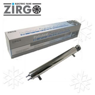 "13"" Zirgo Polished Radiator Overflow Tank Street Rod"