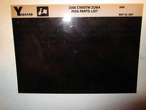 2000 Yamaha Motor Scooter CW50TM Zuma Riva Parts List Catalog CW 50 TM