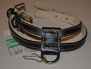 Gold Brown Leather Dog Collar Harness XS s Martha Stewart Pets