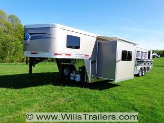 2014 LAKOTA 4 Horse Living Quarter Luxury Trailer No Hidden Reserve $418 A MO