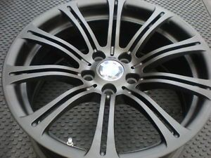 "BMW M3 19"" Wheels and Tires w TPMS Matte Black Michelin Tires BMW Wheels"