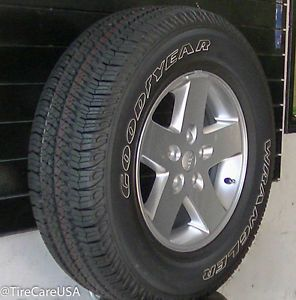 2014 Jeep Wrangler Rims with Goodyear Tires Set of 5