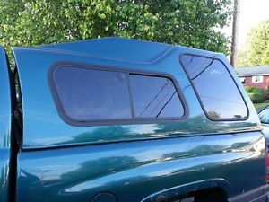 Green Leer High Top Fiberglass Cap Dodge RAM Short Bed
