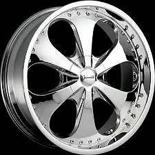 "20"" Chrome Gianelle Wheels Rims 5x115 5 Lug Dodge Charger Magnum Chrysler 300"