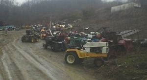 Over 100 Garden Tractors Plus Attachments and Parts  Cub Cadet John Deere