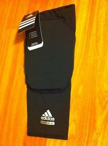 Adidas Men's Padded Knee TECHFIT Compression Sleeve Black NBA Basketball
