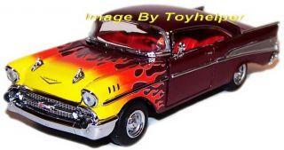 Franklin Mint 1957 Chevrolet Bel Air Hot Rod Flames New