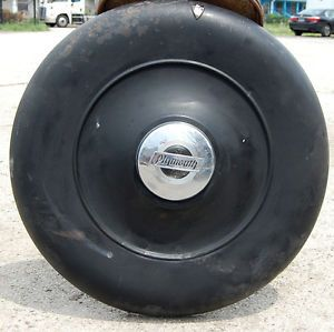 Antique 1930's Plymouth Chrylser Spare Tire Cover Vintage Car Garage Wall Art