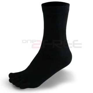3 Pair Men's Sports Antibacterial Health Five Finger Toe Foot Care Cotton Socks