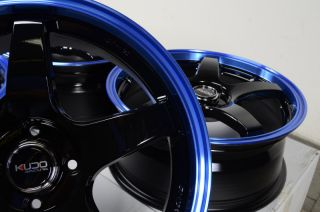 "17"" Blue Kudo Wheels Rims 4x100 Mini Cooper Scion XA XB Aerio Corolla Yaris Golf"