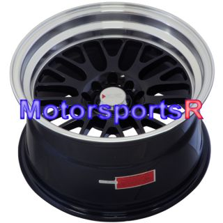 16 16x9 XXR 531 Black Wheels Rims Deep Dish Step Lip 4x100 Stance 84 91 BMW E30