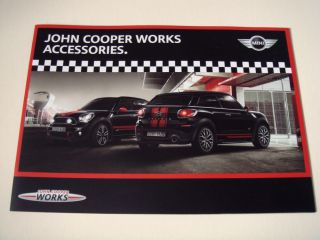 Mini John Cooper Works Accessories Sales Brochure