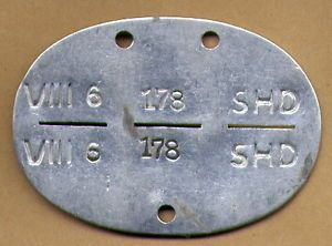 Original WWII German Wehrmacht ID Tag Dog Tag SHD Unit Luftwaffe