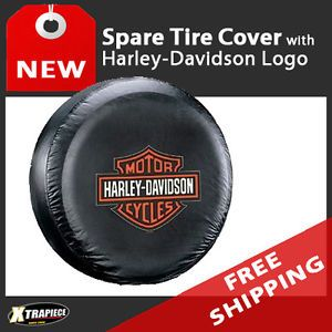 Rear Spare Tire Cover Harley Davidson Shield Logo