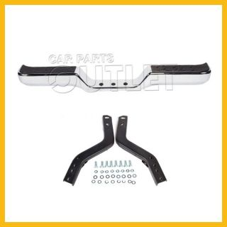 89 95 Toyota Pickup Mini Rear Bumper TO1102221 Chrome Steel Bar Bracket Step Pad