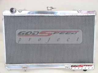 Godspeed 89 94 240sx s13 sr20 SR20DET 2 Row Aluminum Racing Radiator Slim Fan