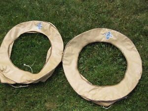 1920's 1930 s Chevrolet Chevy Spare Tire Covers Bow Tie Emblem Side Mount Rear