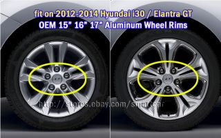 "2012 2013 Hyundai I30 Hatchback 2013 Elantra GT 17"" Wheel Hub Caps 4pc Set"