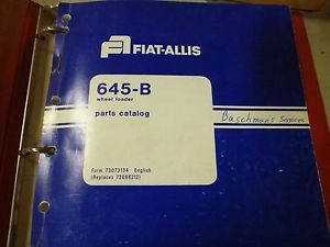 Fiat Allis 645 B Wheel Loader Parts Catalog 3500 Mark II Engine Service Manual