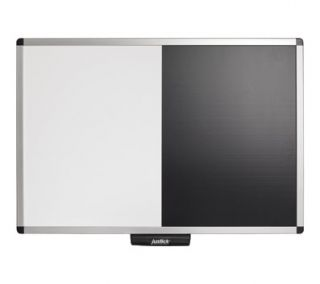 Justick Electro Adhesion Message Board with Dry Erase Combo 3' X 2'
