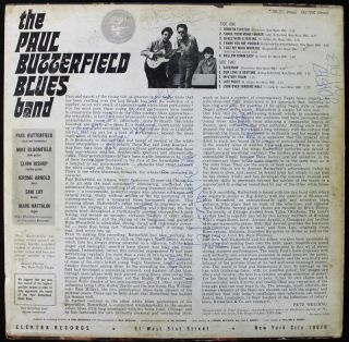 The Paul Butterfield Blues Band 6 Signed Album Cover w Vinyl PSA DNA